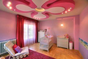 Преимущества двухуровневых потолков в детскую